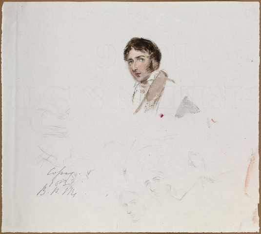 Queen Victoria's watercolour of Lord Melbourne. Image sourced from Royal Collection Trust
