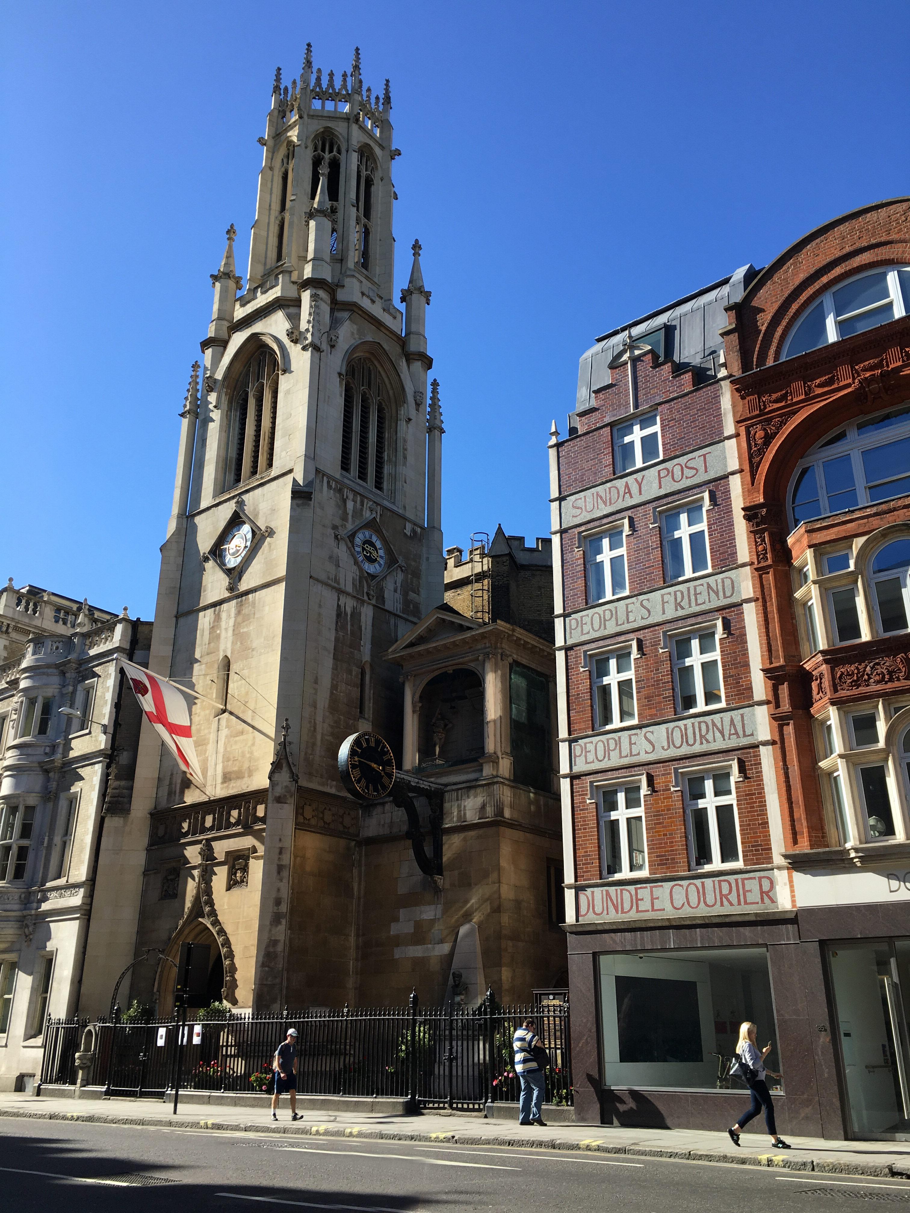 186 Fleet Street, home of Sweeney Todd, and St Dunstan in the West