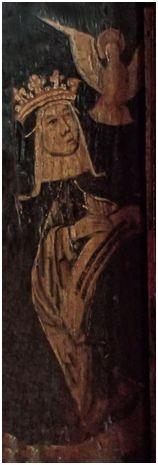 16th century painted roodscreen panel of St Bridget of Sweden St Andrew's Church Kenn