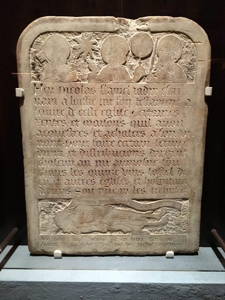 Nicholas Flamel tombstone