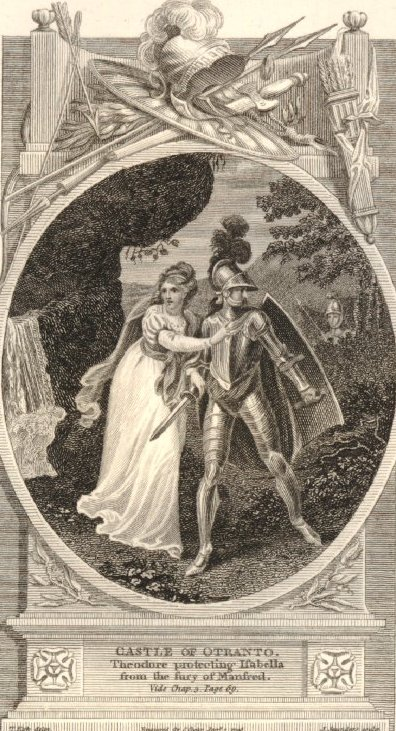 Illustration from The Castle of Otranto 1796