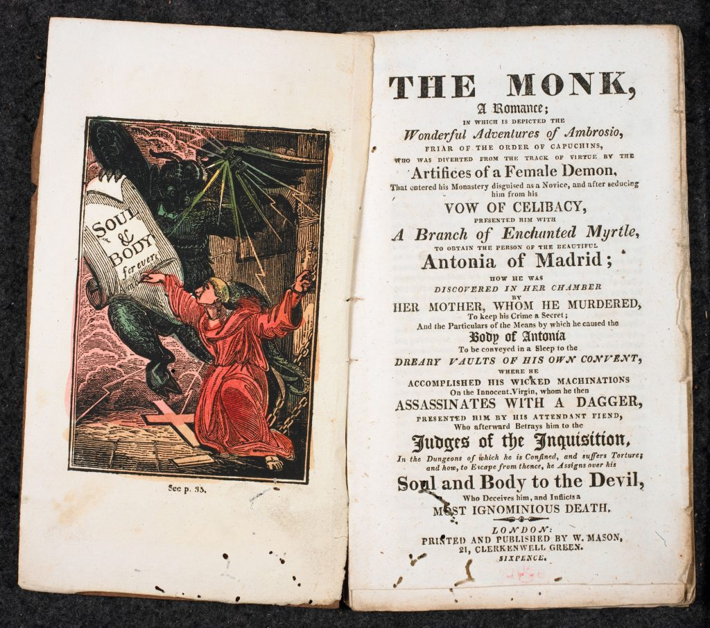 Illustration from Matthew Lewis's The Monk