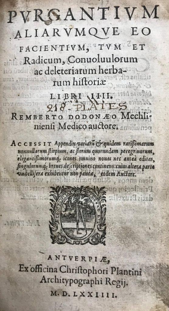 Purgantium aliarumque, Rembert Dodoens