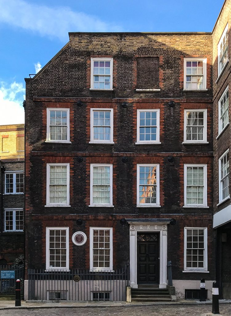 Dr Samuel Johnson's house, 17 Gough Square