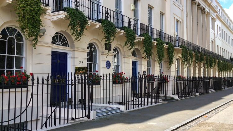 Virginia Woolf house, 29 Fitzroy Square, London