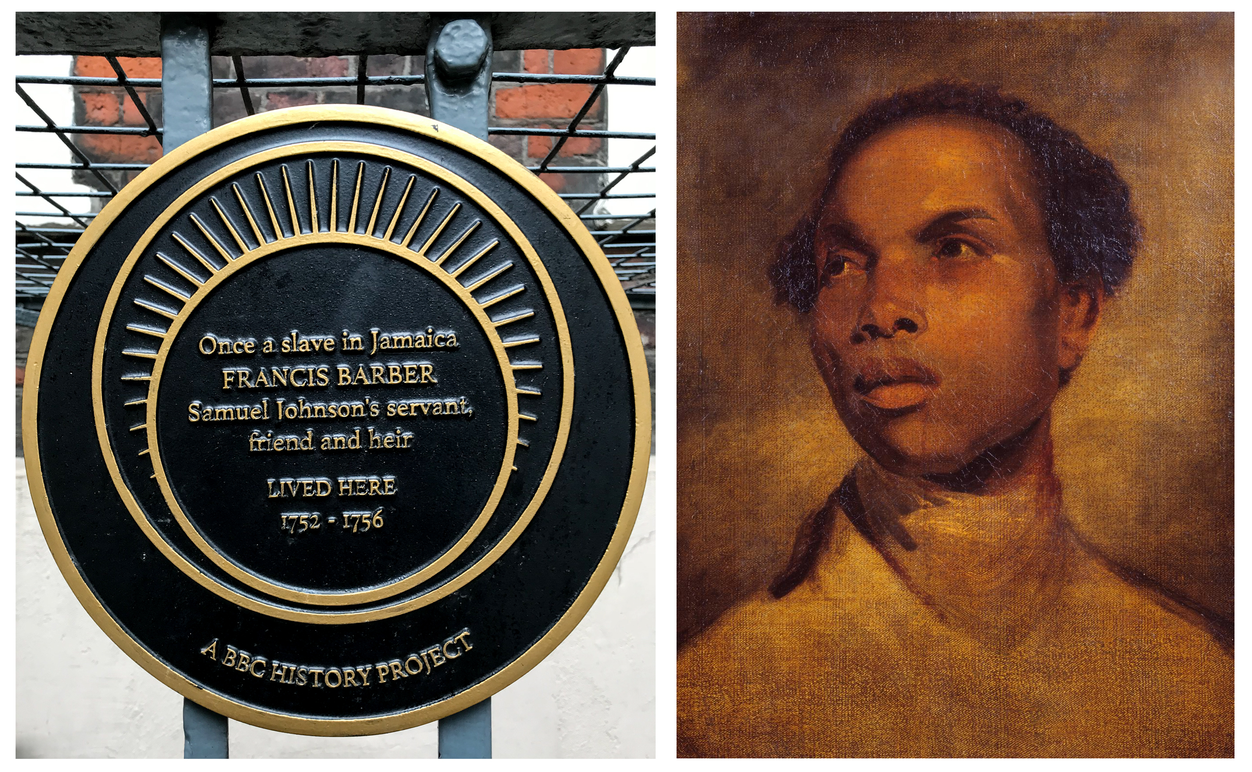 Francis Barber Black History Plaque