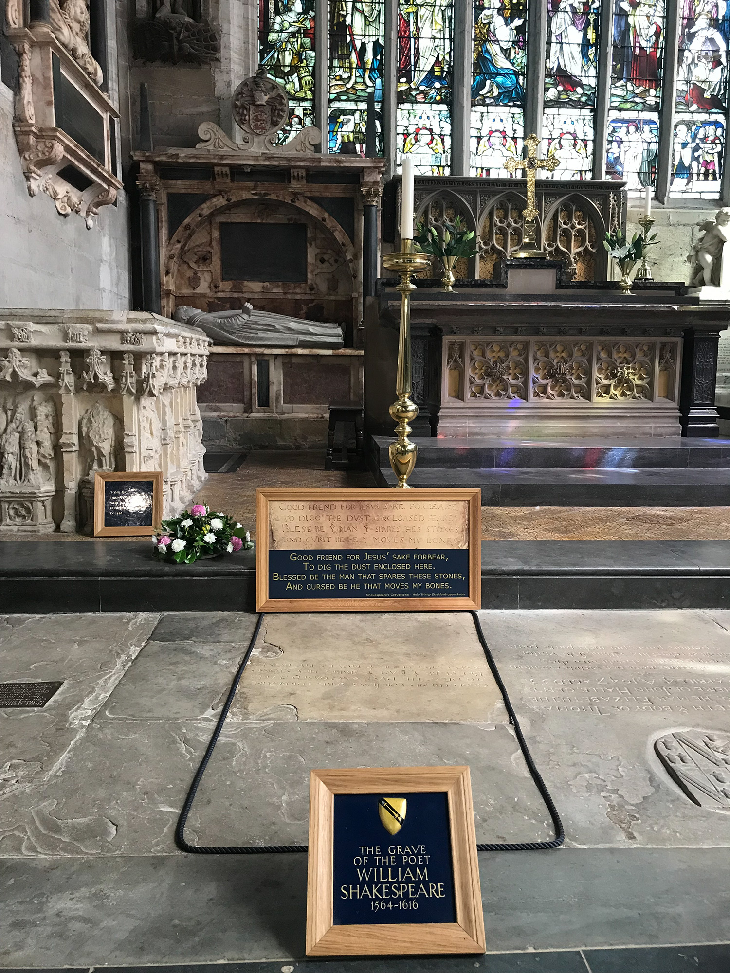 Shakespeare's grave, Holy Trinity Church, Stratford-upon-Avon