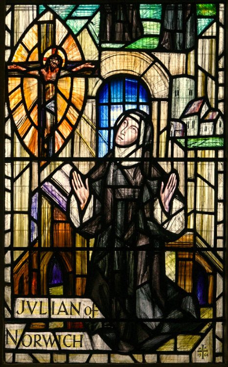 Julian of Norwich stained glass Norwich Cathedral