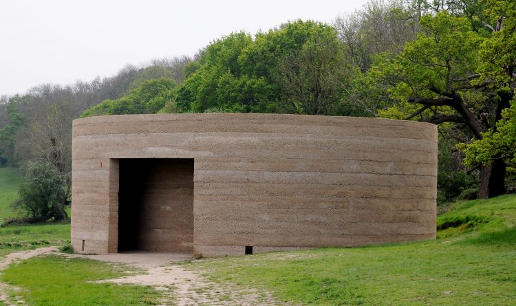 Writ in Water installation at Runnymede